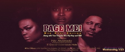 Page Me! Neo Soul Edition (90's hip hop too!)