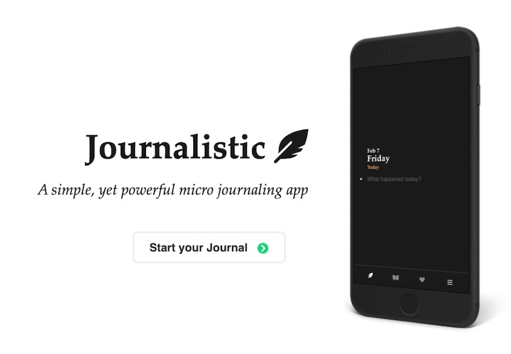 Ad banner: Journalistic – A simple, yet powerful micro journaling app
